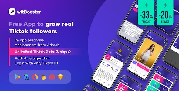 WitBooster - Free App to grow real Tiktok video followers for Android - CodeCanyon Item for Sale
