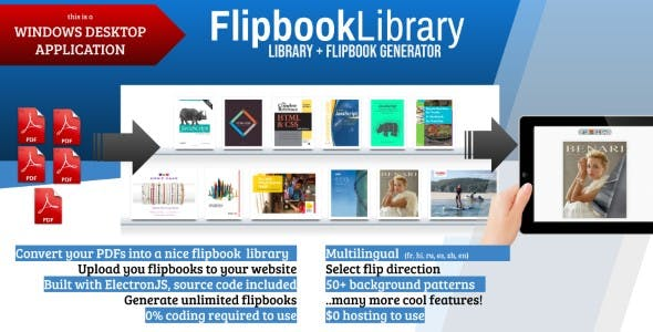 FlipbookLibrary - PDF Flipbook Library Generator