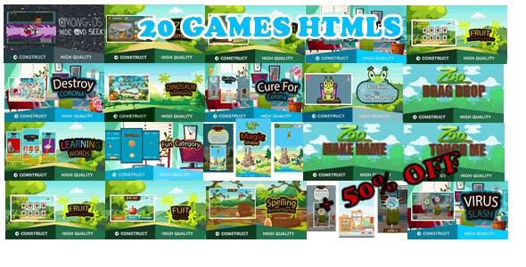 Bots Bundle 20 Games - HTML5 Game (capx)