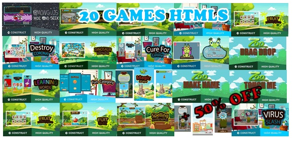 Bots Bundle 20 Games - HTML5 Game (capx) - CodeCanyon Item for Sale