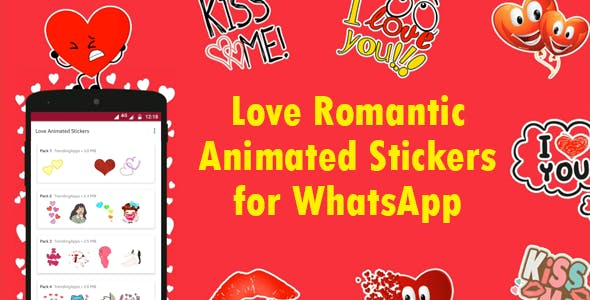Love Animated Stickers for WhatsApp - Sticker Keyboard