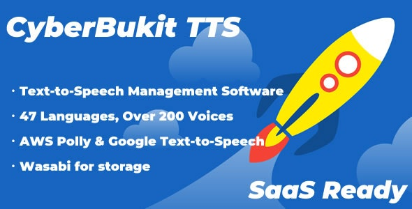 CyberBukit TTS - Text to Speech - SaaS Ready - CodeCanyon Item for Sale