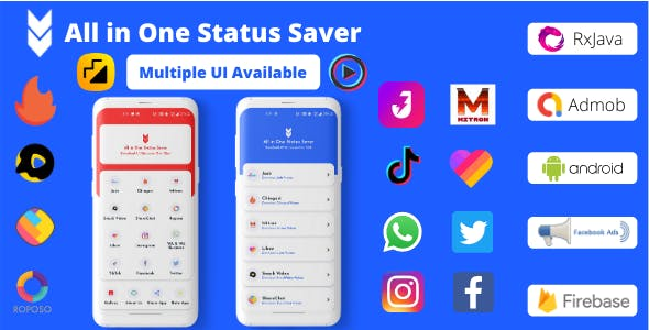 All in One Status Saver - TikTok, MxTakaTak, Moj, Josh, Chingari, ShareChat, Roposo, Likee, Insta
