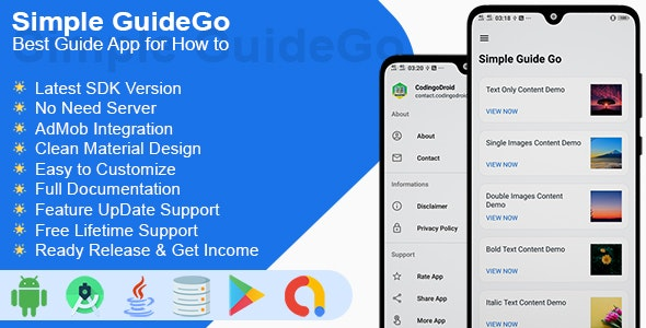 Simple GuideGo - Best Guide Apps for How to Tips & Trick - CodeCanyon Item for Sale