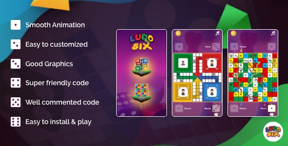 LUDO SIX - A Multiplayer Online & Offline Board Game 【 AdMob 】 - CodeCanyon Item for Sale