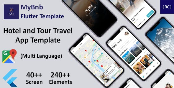 Flutter Hotel Booking and Tour Travel App Template in Flutter   Multi Language   MyBnb