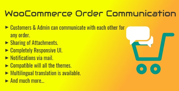 WooCommerce Order Communication | Customer and Admin Conversation - CodeCanyon Item for Sale