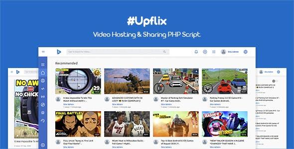 Upflix - Video Hosting & Sharing PHP Script