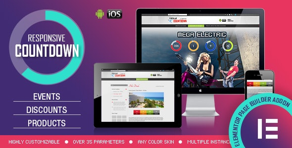 Elementor Widget - CountDown PRO - Events/Products Launch - CodeCanyon Item for Sale