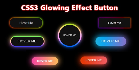 CSS3 Glowing Effect Button - CodeCanyon Item for Sale