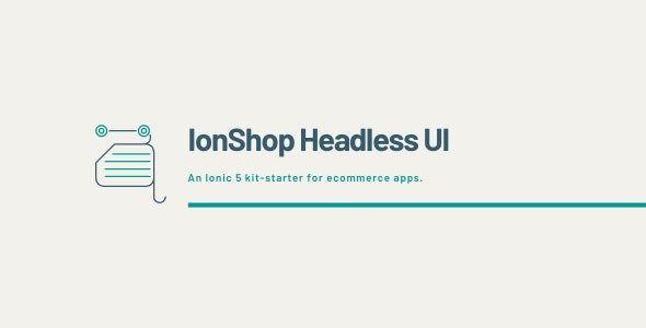 IonShop Headless UI - Ionic / Angular Template - CodeCanyon Item for Sale