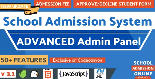 Advanced Online School Admission Portal