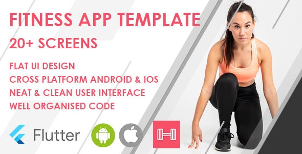 Flutter Fitness App Template - CodeCanyon Item for Sale