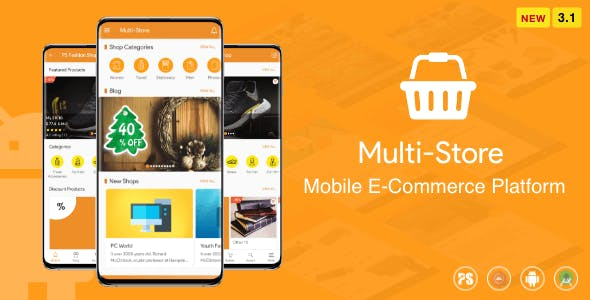 Multi-Store ( Mobile eCommerce Android App, Mobile Store App ) 3.1