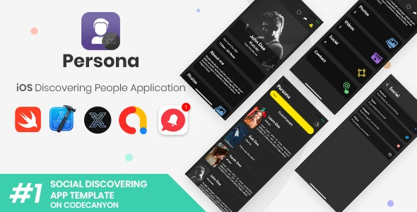 Persona | iOS Discovering People Application [XServer] - CodeCanyon Item for Sale