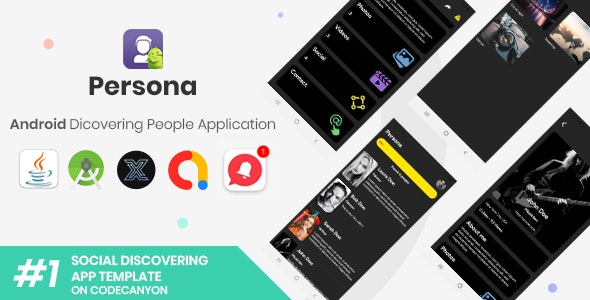 Persona   Android Discovering People Application [XServer] - CodeCanyon Item for Sale