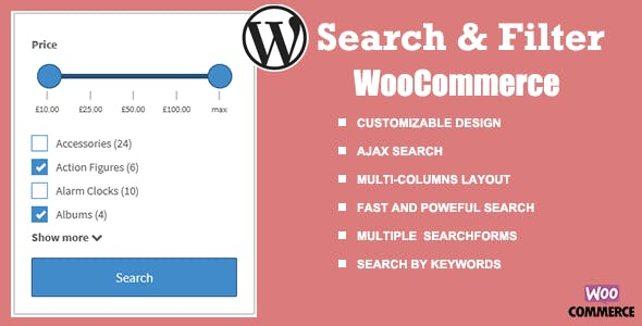 WooCommerce Search & Filter plugin for WordPress