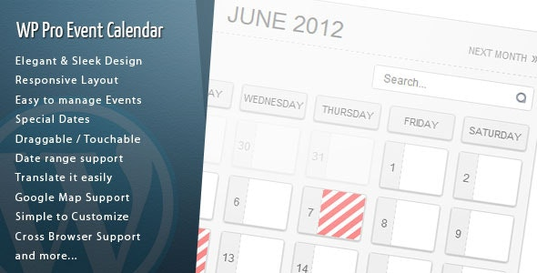 Wordpress Pro Event Calendar - CodeCanyon Item for Sale