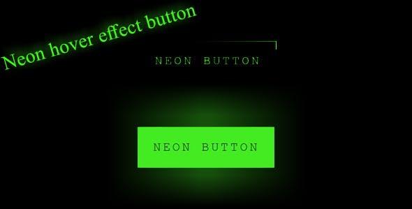 Neon Light Effect Button