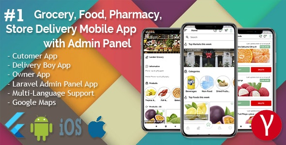 Single Market Grocery/Food/Pharmacy (Android+iOS+Admin Panel) Full App Solution with Web Site - 11