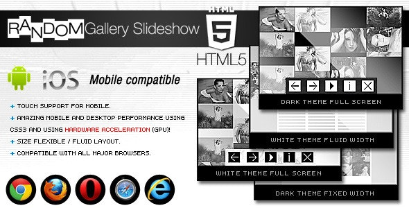 HTML5 Random Gallery Slideshow - CodeCanyon Item for Sale