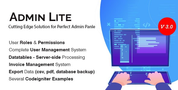 Admin Lite - PHP Admin Panel + User Management - CodeCanyon Item for Sale