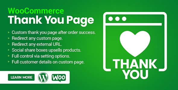 WooCommerce Custom Thank you & Order Confirmation Page - CodeCanyon Item for Sale