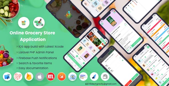 Single Grocery, Food, Pharmacy Store iOS User & Delivery Boy Apps With Backend Admin Panel