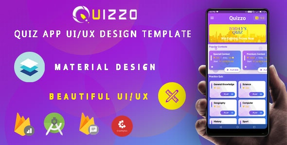 Quiz App - Android UI/UX Design Template - CodeCanyon Item for Sale