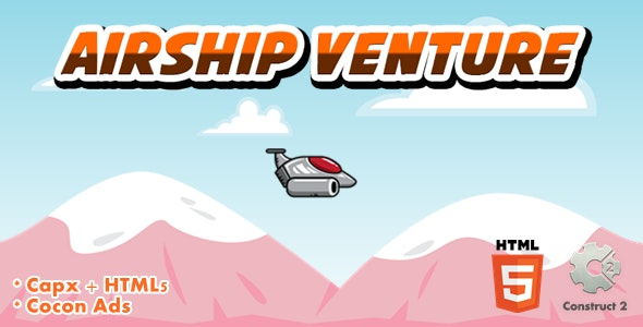 Airship Venture - Html5 Game - CodeCanyon Item for Sale