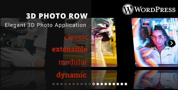 3D Photo Row - WordPress Media Plugin