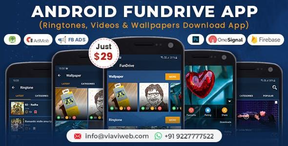 Fundrive - Ringtones, Videos & Wallpapers Download App