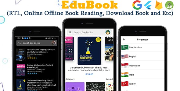 Edu Ebook - Flutter Ebook App + Admin Panel
