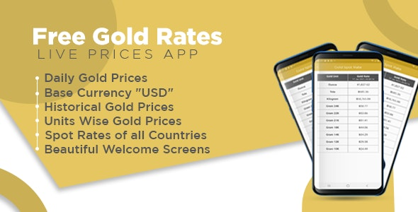 Daily Gold Prices App with Admob Ads - CodeCanyon Item for Sale