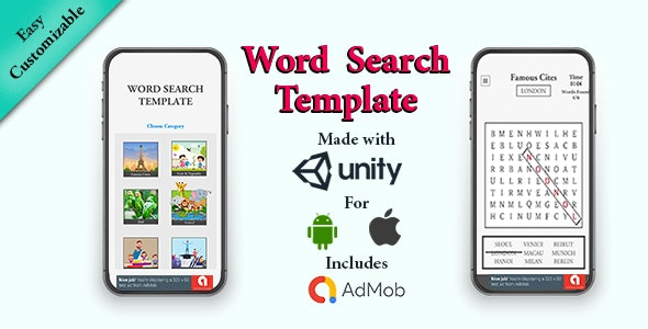 Word Search Template: Unity3D | Android - CodeCanyon Item for Sale
