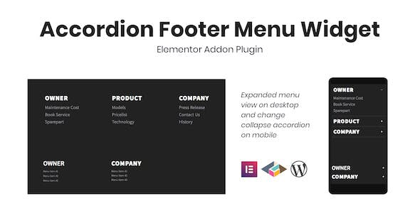 Accordion Footer Menu Widget For Elementor