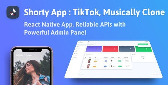 Shorty Short Video Making React Native App with Admin Panel