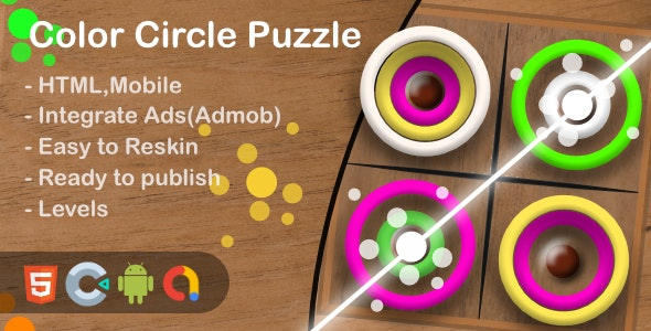 Color Circle Puzzle(Html5 + Construct 3 +Mobile) - CodeCanyon Item for Sale
