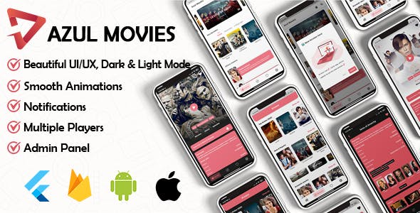 Movies App - Admin panel ( movies & series & tv shows...) Flutter
