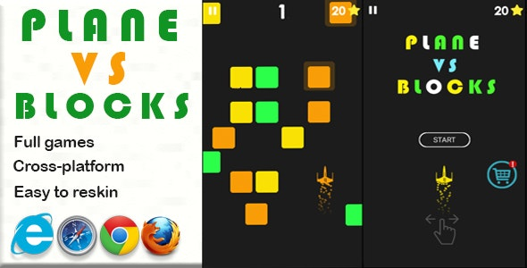 Plane vs Blocks  -  HTML5 game - CodeCanyon Item for Sale