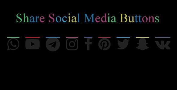 Social Media Sahre Buttons