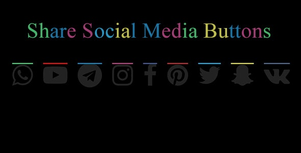 Social Media Sahre Buttons - CodeCanyon Item for Sale