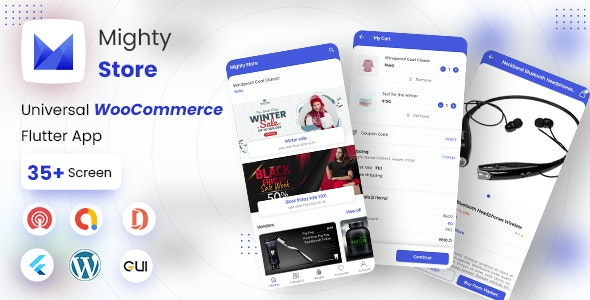 MightyStore - WooCommerce Universal Flutter App For E-commerce App