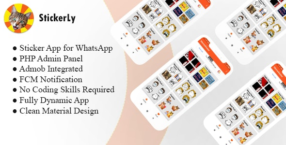 StickerLy : Android Sticker App For WhatsApp With PHP Admin Panel - CodeCanyon Item for Sale