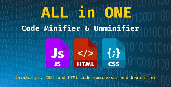All in ONE - Code Minifier & Unminifier with NodeJS