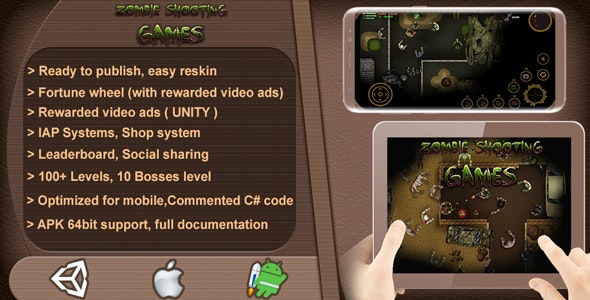Zombie Shooting Games 2D - Complete Game Template / Project - Unity Game - CodeCanyon Item for Sale