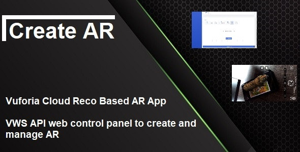 Vuforia Cloud Recognition App With Web Panel - CodeCanyon Item for Sale