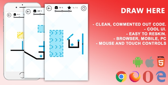 Draw Here. Mobile, Html5 Game .c3p (Construct 3) - CodeCanyon Item for Sale