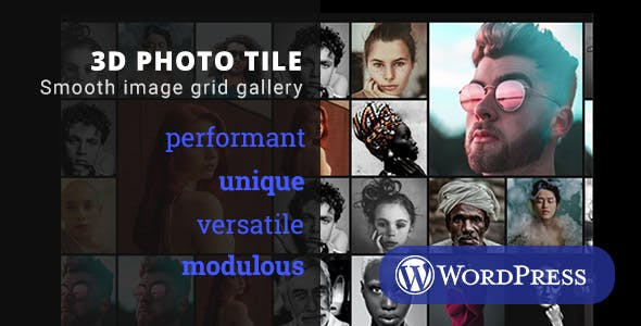3D Photo Tile - WordPress Media Plugin