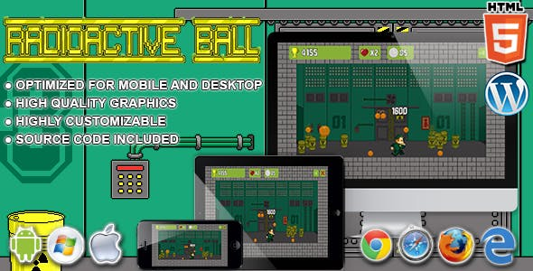 Radioactive Ball - HTML5 Arcade Game